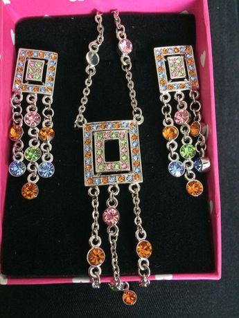 Set bijuterii dama- placat cu Aur 18k-GUESS -cercei,bratara-OFERTA