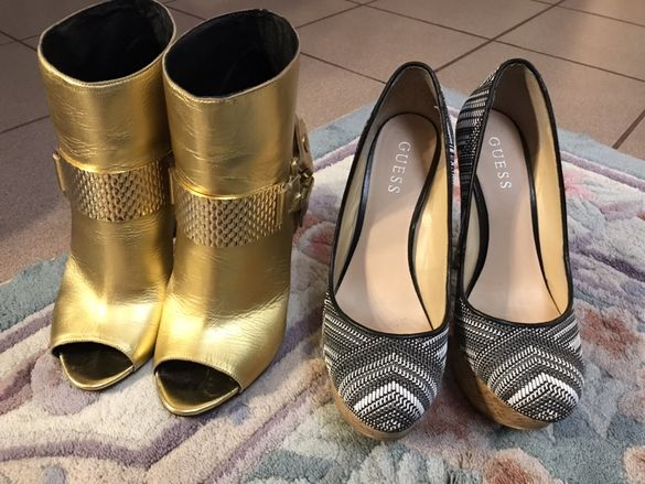 Оригинални маркови обувки Guess токчета Cavalli боти