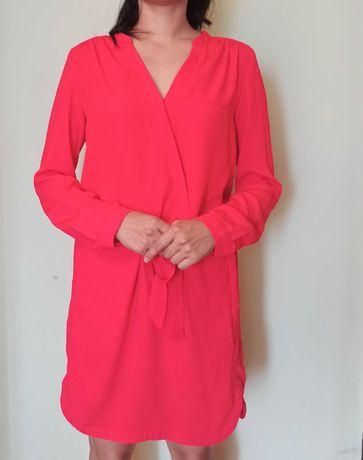 Яркое караловое оранжевое платье promod