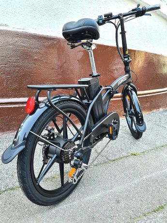 "Bicicleta Pliabila Electrica Nakto roti magneziu 20"" Shimano 12Ah 350W"