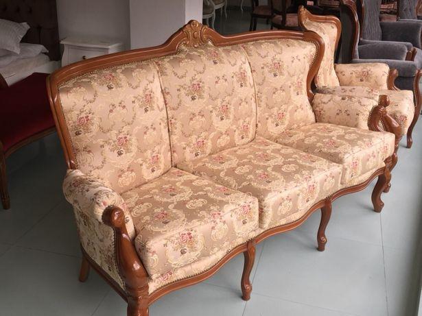 Set canapea Baroc(lemn masiv) 3-1-1
