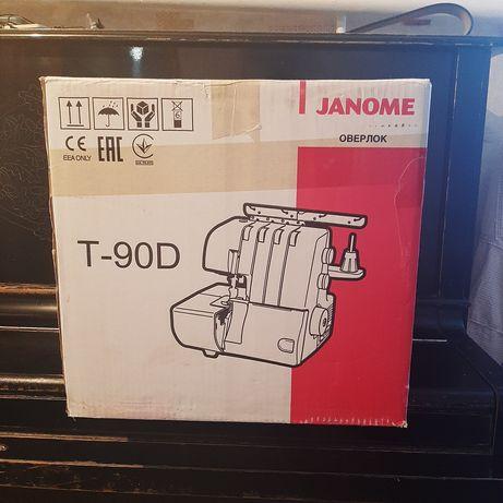 Срочно продается оверлок Janome, новый неиспользованный, за наличку