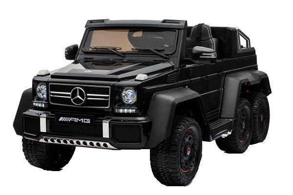 Masinuta electrica KInderauto Mercedes G63 6x6 270W DELUXE #Negru