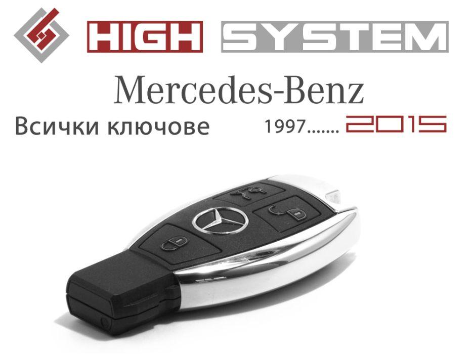 Програмиране на ключ за всички (Мерцедес) Mercedes до 2015 г.