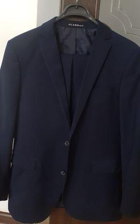 Тёмный синий костюм двойка