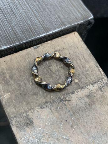 Inel aur argint Torus lucrat manual handmade