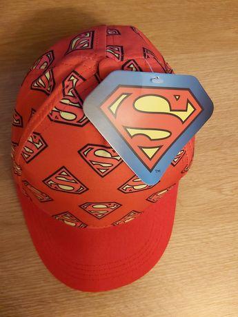 Șapcă roșie baieti Superman 6-7 ani, 54 cm, NOUA