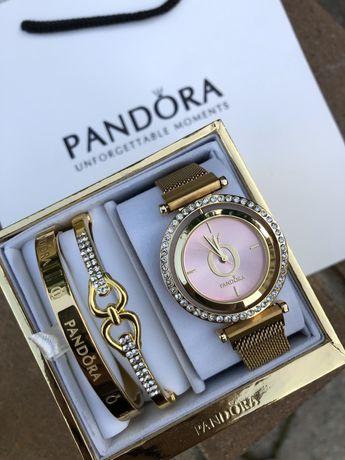 Женский набор Pandora. Часы и 2 браслета. Идея подарка