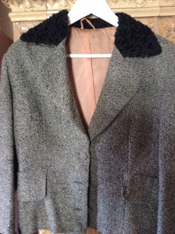 Jacheta cu insertii de blana artificiala M