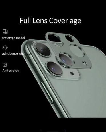 Алуминиев ринг и стъклен протектор за камерата за IPhone 12,11 Pro Max