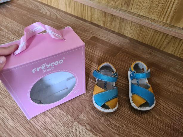 Sandale de piele cu cutie