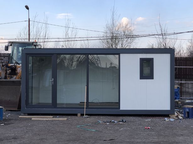 Container tip birou vestiar sanitar modular casa garaj