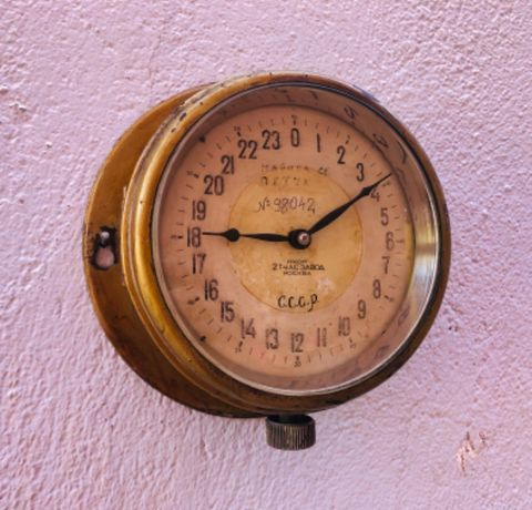 Часовник от руска подводница Военноморски сили СССР-1950г.0