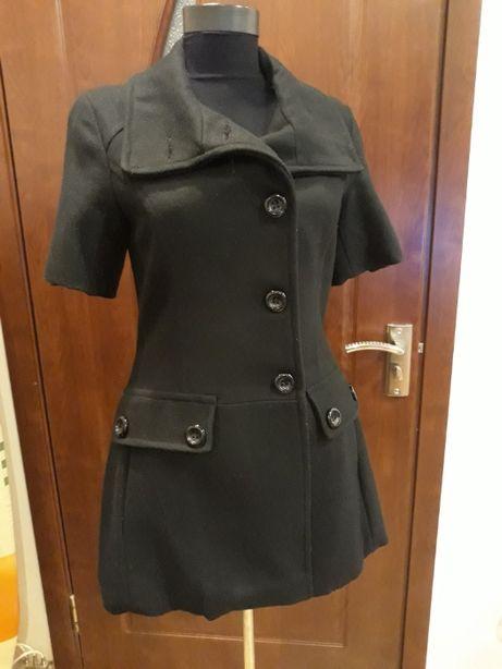 Palton, jacheta, geaca chic cu maneca scurta