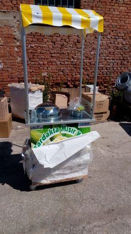 Професионална количка за варене на царевица , оборудван с електриче