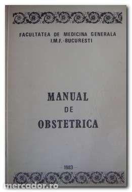 Manual de Obstetrica - V. Ancar - Facultatea de Medicina Generala
