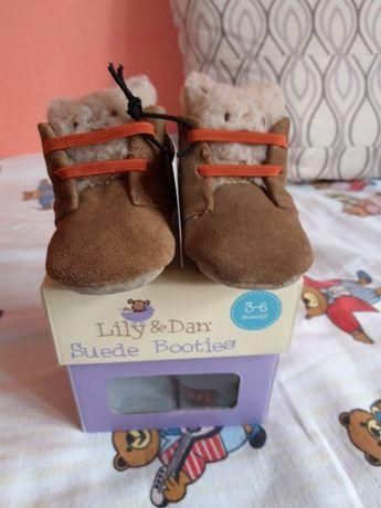 Бебешки пантофки 3-6 ,6-9месеца