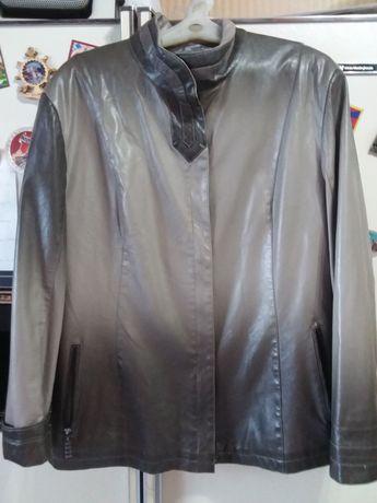 Куртка кожанная женская 54размер