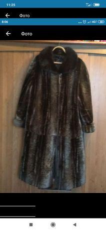 Шуба мутон теплая, 56 размер