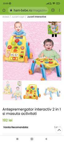 Antepremergător/premergător și măsuță de activități bebeluși, 2 in 1