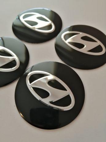 HYUNDAI - Set 4 embleme din aluminiu pentru capacele