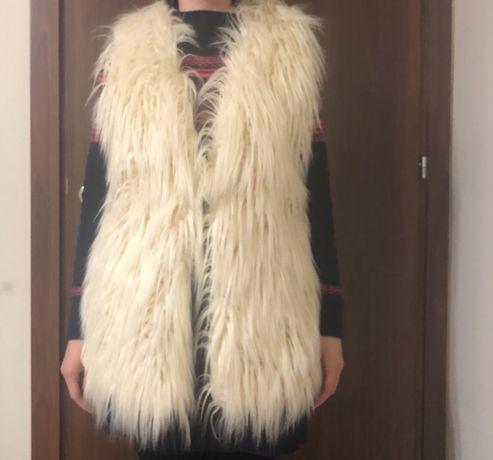 Намален на 25 лв. Дамски елек с дълъг косъм