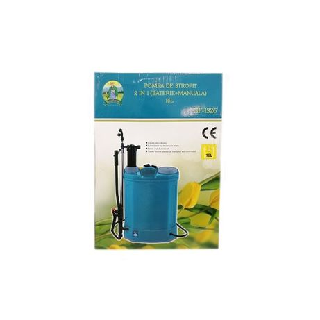 Pompa de stropit 2 in 1 (baterie + manuala) 16L Micul Fermier