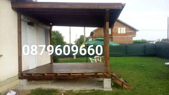 Изграждане на всякакви вид навеси барбекюта беседки гаражи тераси.
