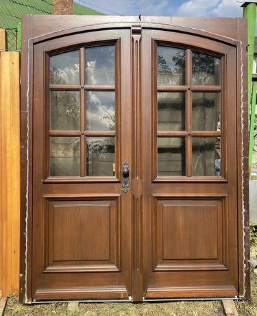 Usa casa vila firma intrare boltita lemn geam termopan H 238 x L 191