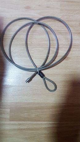 Cablu bicicletă prindere lacăt