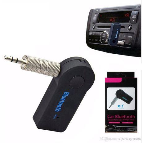 Авто ресийвър AUX блутут трансмитер за кола с вграден микрофон