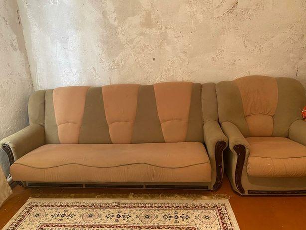 Мягкий уголок с креслом. Производство Россия