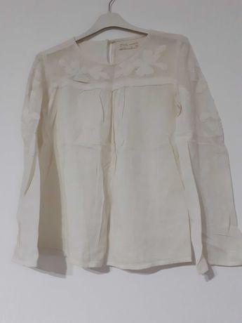 Bluzita fetite Zara 11-12 ani,culoare alb - cream.