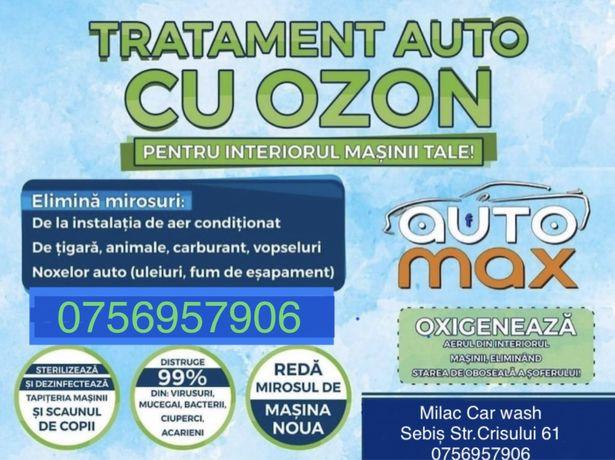 Ozonizare auto curatare miros interior
