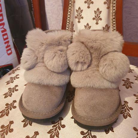 Обувь зимняя для девочки в идеальном состоянии