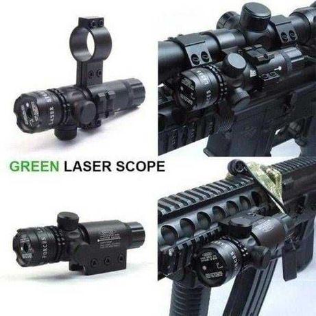 Laser pointer verde arma pistol airsoft prindere sina