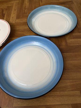 Большие эмалированные тарелки 2 шт