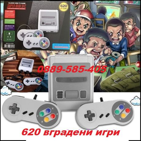 Уникална електронна телевизонна игра с 620 вградени игри тв nintendo