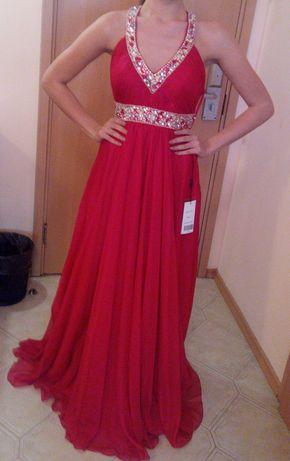 Класна, бална дизайнерска рокля, А линия. Купувана от бутик в САЩ