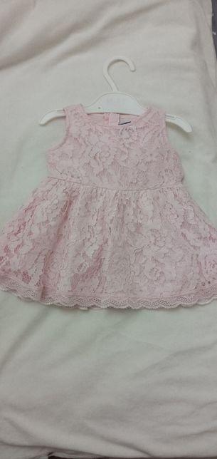 Распродажа!!Платье розовое из кружева для девочки