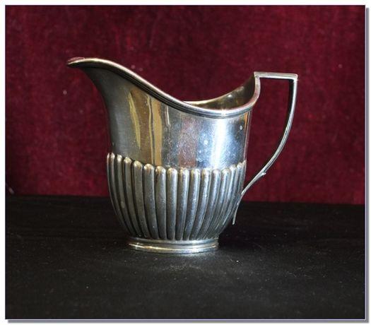 Антикварный сливочник, William Hutton & S, покрытие серебром, Англия