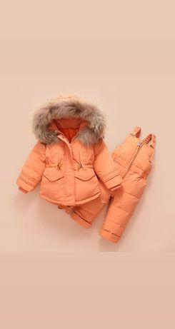 Зимний комбинезон из пуха, слитные комбезы для малышей