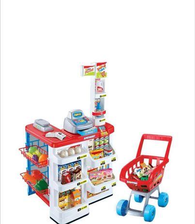 детски супермаркет комплект с над 40 аксесоара