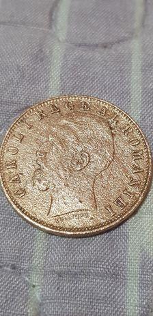 Moneda foarte veche si rară cu carol 1 din anul 1.883 impecabila!