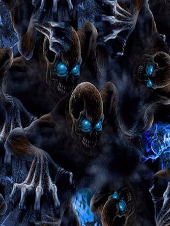 Фолио за хидрографика Blue Skull 100
