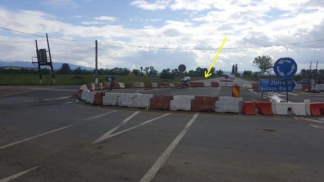 Teren industrial 11 900 mp nod autostrada ORASTIE ( ROMOS)