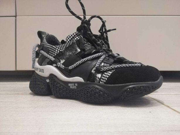 Pantofi sport EPICA negri, 135P166, din piele naturală