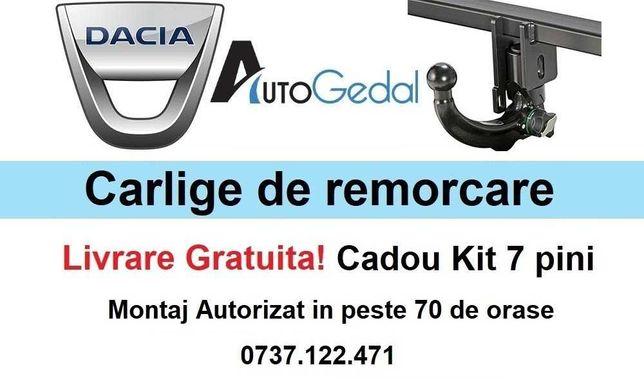Carlig Remorcare DACIA - Omologat RAR si EU - 5 ani Garantie