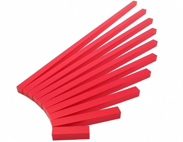Монтесори Дървени Червени Стикове пръчки летви, всички Монтесори