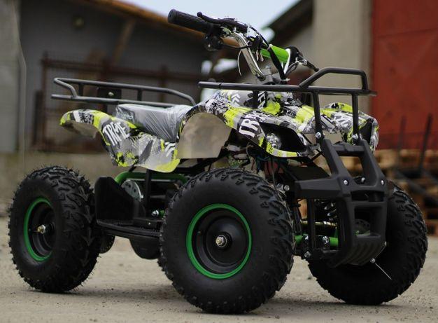 Mini ATV electric pentru copii NITRO Torino Quad 1000W 48V #Verde